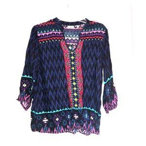 Aztec/colorful blouse